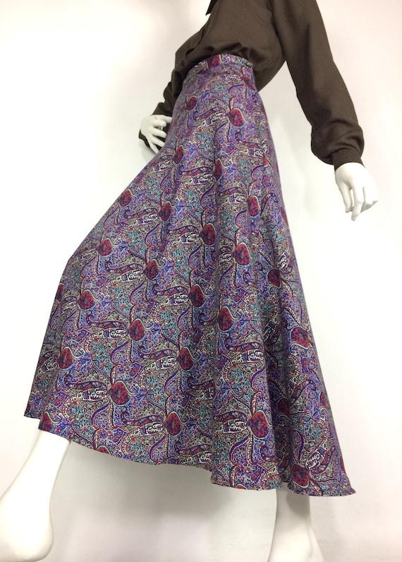 LIBERTY 80s vintage paisley wool skirt / Liberty … - image 7