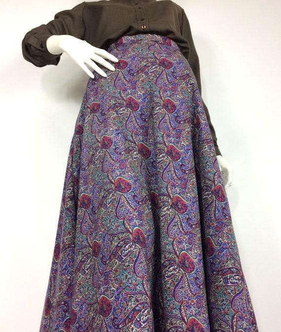 LIBERTY 80s vintage paisley wool skirt / Liberty … - image 4