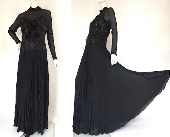 1940s Vintage heavily beaded gown / 30s  / forties