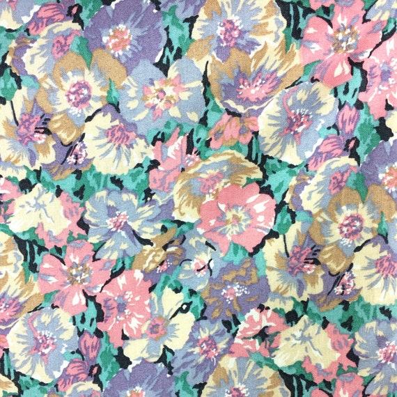 LIBERTY 80s vintage cotton tea dress / pansies / … - image 3