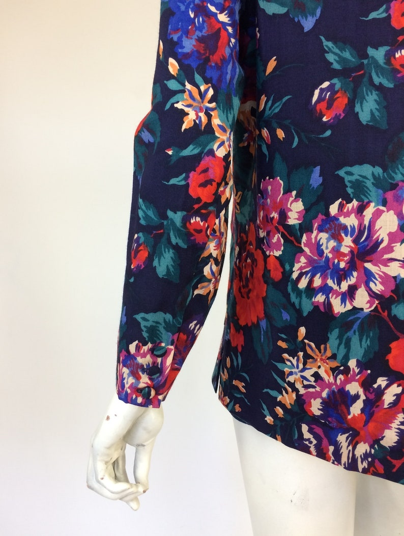 Liberty vintage 1980s wool jacket  cardigan  40s costume Goodwood  UK 12