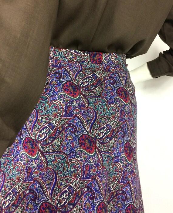 LIBERTY 80s vintage paisley wool skirt / Liberty … - image 8