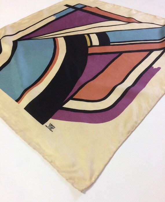 LIBERTY vintage designer SILK SCARF / 1960s 70s vt