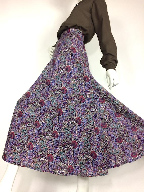 LIBERTY 80s vintage paisley wool skirt / Liberty … - image 2
