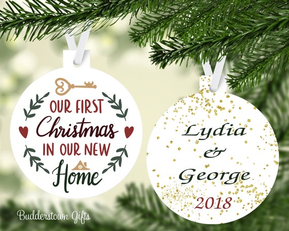 First Christmas In Our New Home 2019.Our First Christmas In Our New Home 2019 Free Shipping New Home Christmas Ornament Personalized Housewarming Gift New House Gift