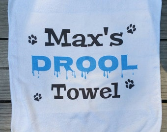 Dog Drool Towel - dog, slobber, Free Shipping!  Dog lover/ new dog gift!