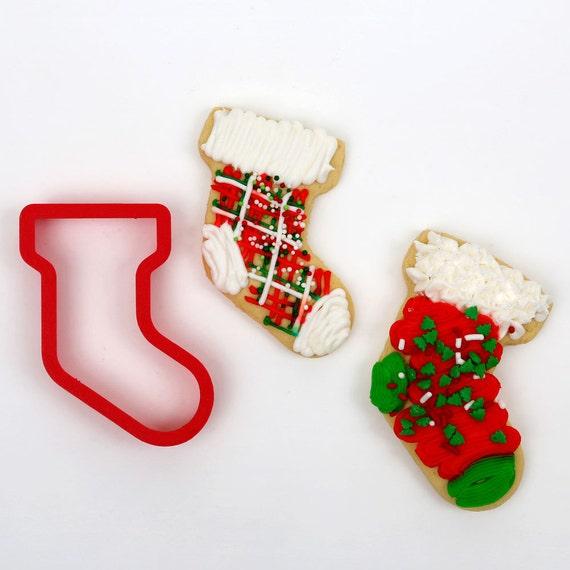Christmas Stocking Cookie Cutter 2 Cutter Set