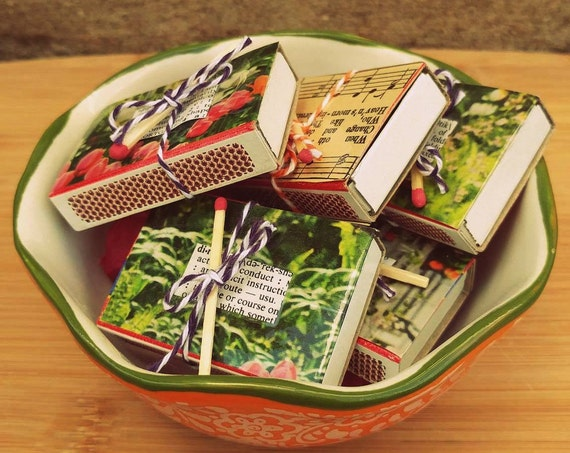 Unique Matchboxes + Tea light candles // Unique Gift Idea // Unscented // Altar Meditation Metaphysical Tools // Decorative //