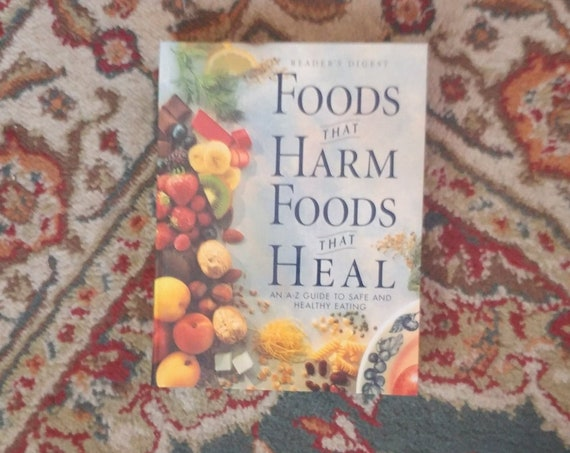FREE SHIPPING Foods That Harm Foods That Heal // Reader's Digest // 1996 // Used/Good