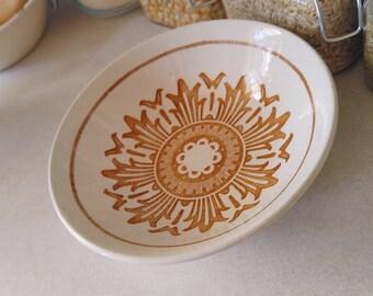 Iron Stone Sunburst Bowl / Trinket Dish / Vintage Iron Stone Ware /