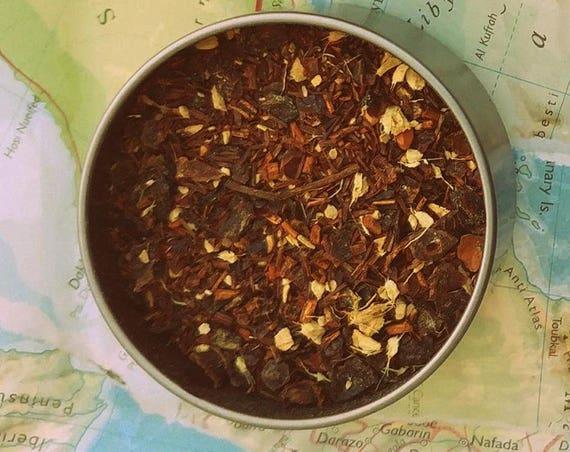 Love Spell Tea // Loose Leaf Tea // Hand-Filled Tea Bags // Tea Tin // Tea Blend // Love Tea // Ginger Tea // Rooibos Tea //