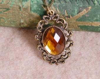 Scrollwork Pendant // Victorian Look // Vintage Look Necklace //