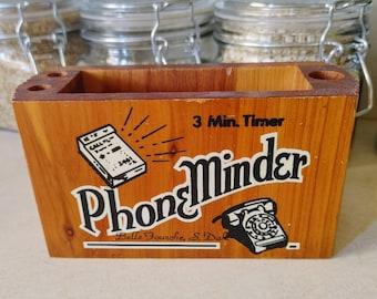 Vintage Phone Minder / Phone Holder / Cell Phone Holder / Pen Holder
