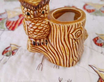 Owl toothpick Holder / Succulent Holder / Ceramic / Great Condition
