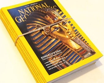 Egyptian History Collector's Set of 6 National Geographic Magazines / Bundled as a Gift Set / 1998-2010 Egyptian Cover Photographs /