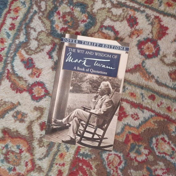 FREE SHIPPING (2) Dover Thrift Editions // Mark Twain Quotations + William Blake's Selected Poems // 1999/1995 // Used/Good