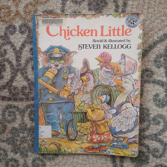 FREE SHIPPING Chicken Little by Steven Kellogg // Discarded Library Books // Used Fair Condition // Marks on Cover // Sold As Is //