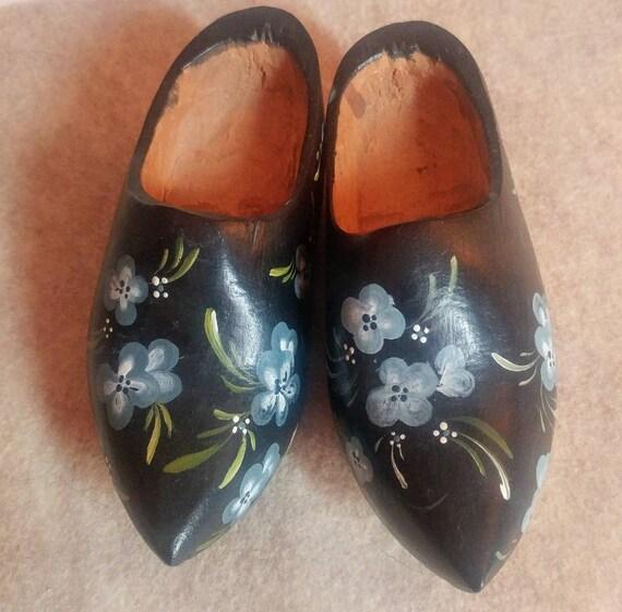 Vintage Handmade Dutch Wooden Clogs // Dutch Wooden Shoes // Dutch Shoes // Clogs //