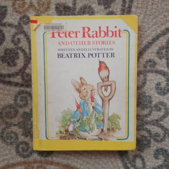FREE SHIPPING Peter Rabbit and Other Stories by Beatrix Potter // Discarded Library Books // Marks on Cover // Sold As Is //