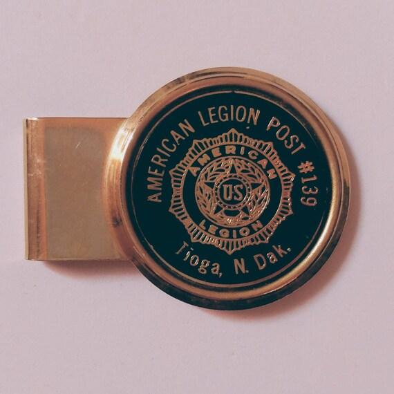 Vintage American Legion Money Clip // American Legion in North Dakota // Vintage Midwestern Jewelry //