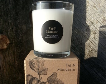 Fig and mandarin Scented Soy Candle