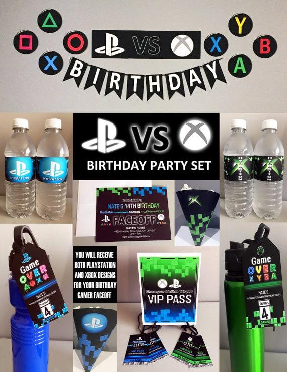 PlayStation Vs Xbox Theme Party Set Gamer Printable