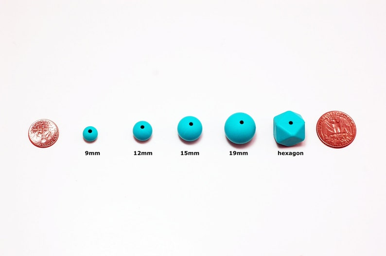 highest quality Loose 15mm Turquoise Round Silicone Beads Wholesale Bulk Discount. BPA free silicone craft supplies Canada USA Europe