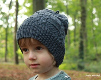 8e8be422bde Hand Knitted Pure Merino Wool Beanie Hat for Babies