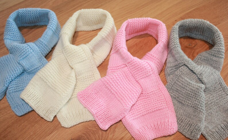 4049ac9c3ba0 Hand Knitted Pure Merino Wool Baby Toddler   Kids Scarf in