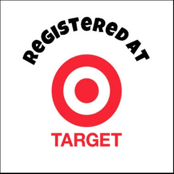 Registered at Target Labels/Stickers Baby Shower/Wedding ...