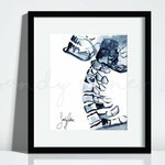 Xray Cervical Spine Ink Painting Print   Art for Chiropractors, Osteopaths, Radiologists, Physical Therapists