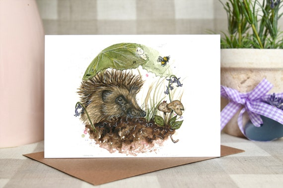 Hedgehog 'The gardener's friend' greeting card