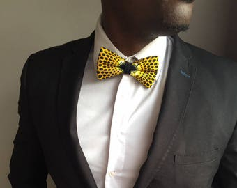 Bow tie fabric yellow wax (limited STOCK)