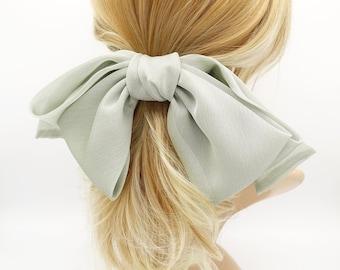 BROWN /& WHITE Gingham Hair Clip Bow with Rhinestone School Hair Accessories