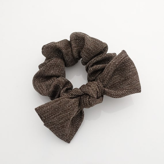 herringbone pattern bow knot hair scrunchies wire scrunchie  613a25e3deb