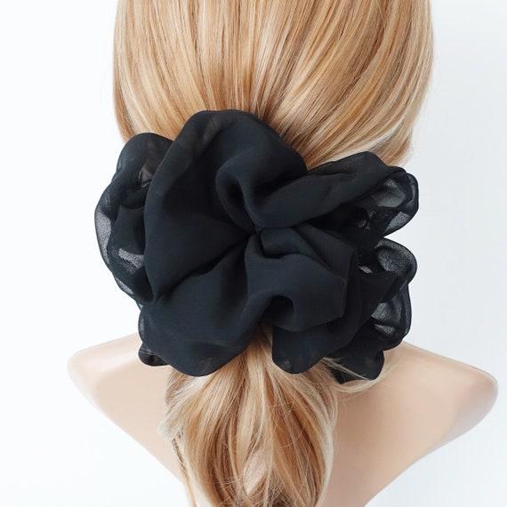 Oversized Chiffon Scrunchies Large Hair Elastic Scrunchie Women Hair Accessory by Etsy