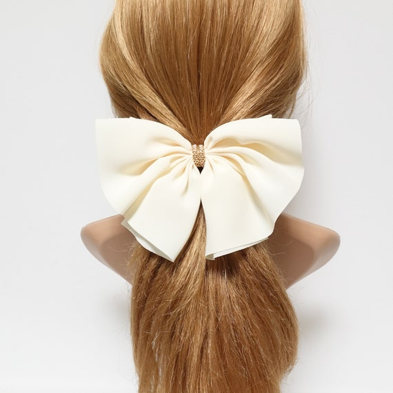 Chiffon Hair Bow Golden Chain Decorated Butterfly Hair Bow Barrette Women Hair Accessory by Etsy