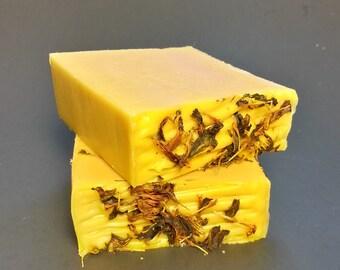 Carrot Soap-Chamomile Soap-Calendula Soap-Goat Milk Soap-Natural Soap-Handmade Soap-Garden Soap-Unscented Soap