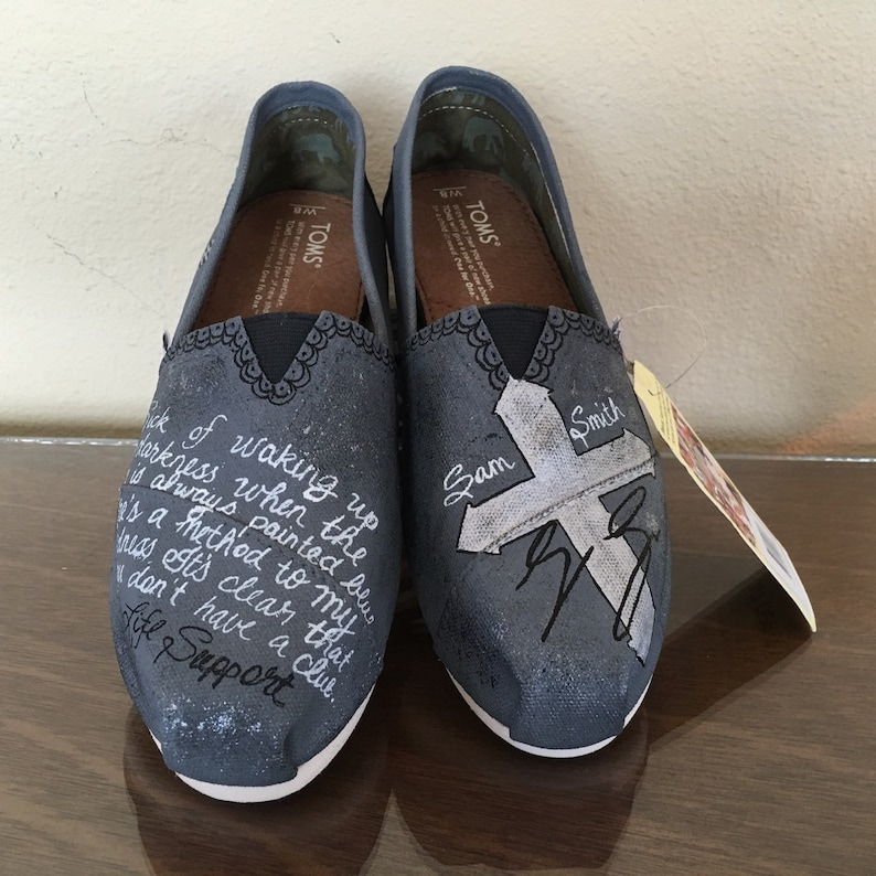6f86f4e05c36b Sam Smith inspired shoes, choice of lyrics (or scripture for bible verse)