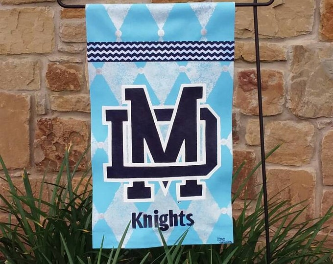Mater Dei Garden Flag, Light Blue