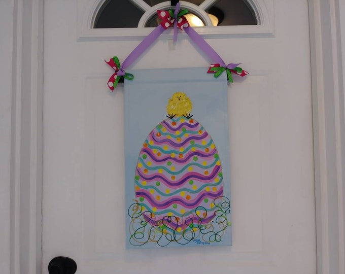 Easter Egg and Peep Door Hanger Garden Flag