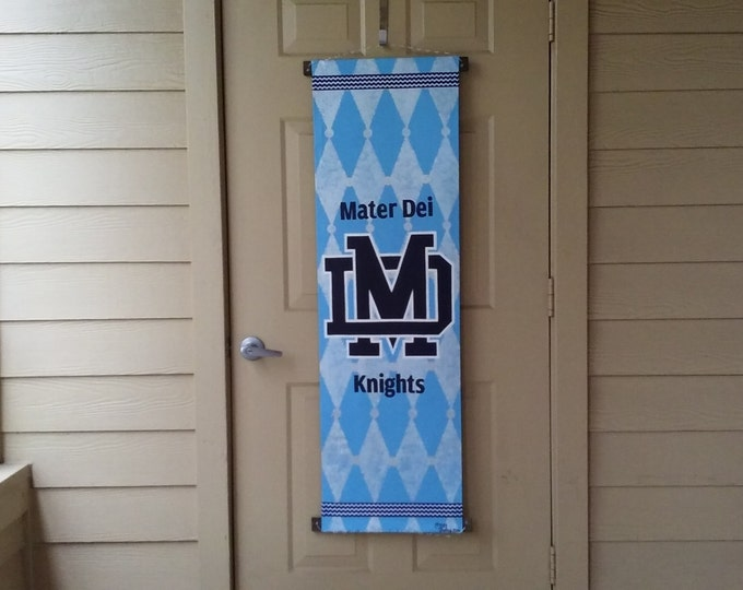 Mater Dei Knights Banner, Light Blue