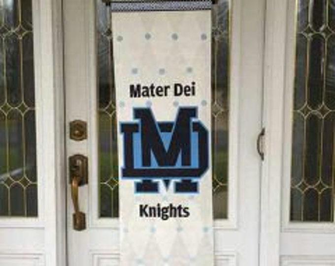 Mater Dei Knights Banner, White