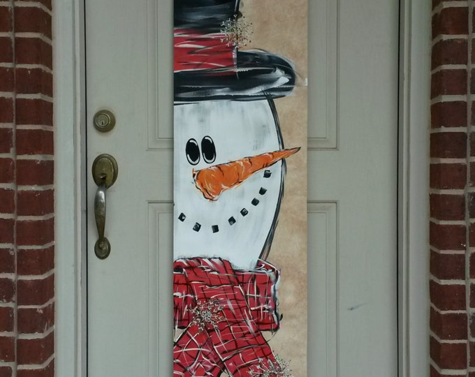Mr. Snowman Canvas Door Decoration
