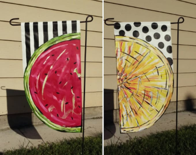 Watermelon / Lemon Garden Flag / Double sided.