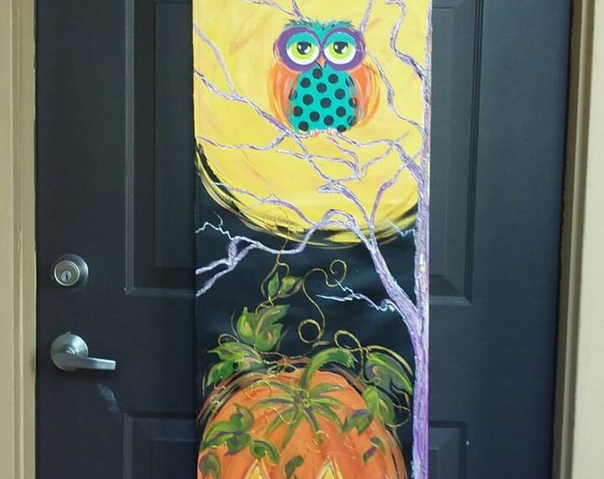 Halloween Owl & Moon Door Hanger