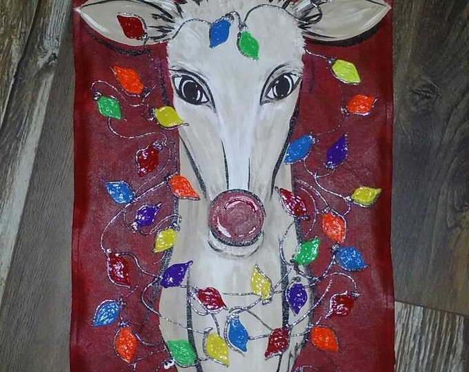 Rudolph the Reindeer garden flag