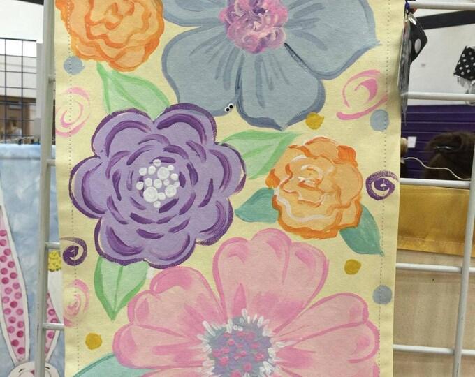 Spring floral garden flag
