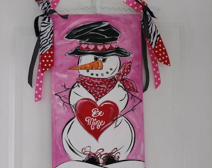 Snowman with Heart Valentine Snowman Valentine's Day