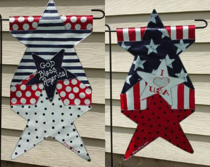 American Stars Garden Flag/ Double sided